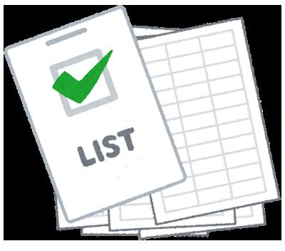 暮らし方リストを作る